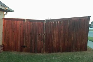 Photo #11: Fence stain and build by Scott