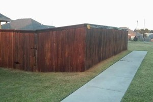 Photo #12: Fence stain and build by Scott