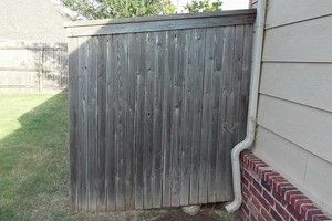 Photo #13: Fence stain and build by Scott