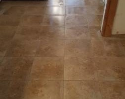 Photo #1: Custom tile and wood instalation - floor and walls