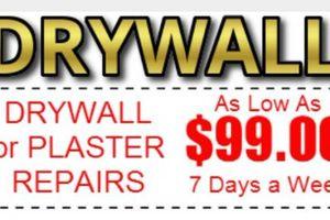 Photo #1: Drywall / sheetrock
