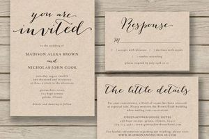 Photo #1: WEDDING INVITATIONS