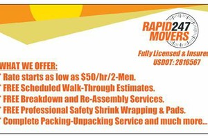 Photo #1: RAPID 24/7. RELIABLE AND EFFICIENT MOVERS