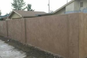Photo #4: BLOCK WALLS, STUCCO, FLAGSTONE
