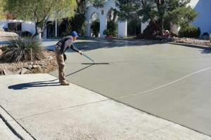 Photo #7: Fernandez Construction. Concrete driveway and yard landscaping
