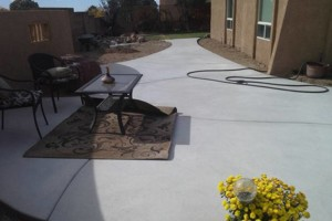 Photo #2: Fernandez Construction. Concrete driveway and yard landscaping