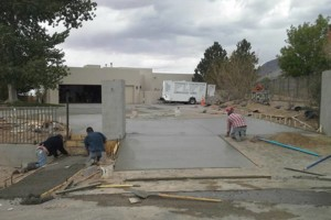 Photo #1: Fernandez Construction. Concrete driveway and yard landscaping