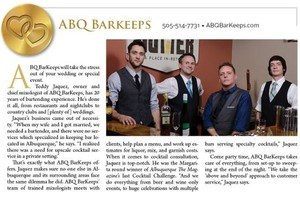 Photo #3: ABQ BarKeeps. Bartenders for your Wedding, Party, Birthday, Special Event