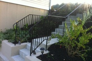 Photo #1: Wrought iron porch rails