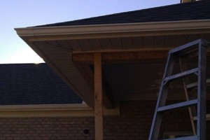 Photo #1: Seamless Rain Gutters. Spring specials!