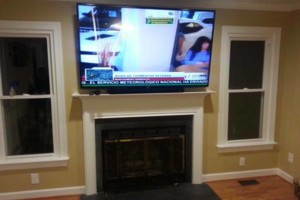 Photo #1: TV Mounted Today By A Skilled Installer! Mount Man Installations