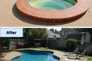 Photo #9: SWIMMING POOL REMODELING... TILE, COPING, PLASTER, ACID WASH, MASTIC