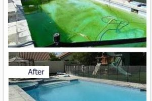 Photo #8: SWIMMING POOL REMODELING... TILE, COPING, PLASTER, ACID WASH, MASTIC