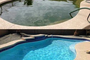 Photo #7: SWIMMING POOL REMODELING... TILE, COPING, PLASTER, ACID WASH, MASTIC