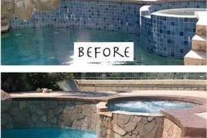 Photo #6: SWIMMING POOL REMODELING... TILE, COPING, PLASTER, ACID WASH, MASTIC