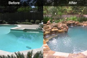 Photo #1: SWIMMING POOL REMODELING... TILE, COPING, PLASTER, ACID WASH, MASTIC