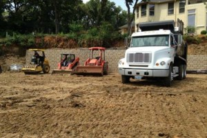 Photo #5: Bobcat/ trench/trailer and dump truck service/Landscaping