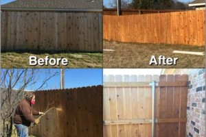 Photo #3: Rocking W Fence and Staining