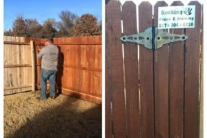 Photo #2: Rocking W Fence and Staining