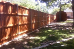 Photo #3: Fence Installation & Repair - wood/ vinyl/ chainlink/ iron/ silt