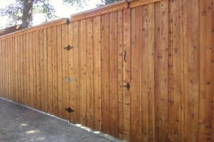 Photo #4: Fence Installation & Repair - wood/ vinyl/ chainlink/ iron/ silt