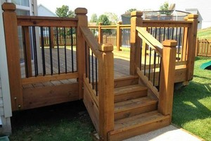 Photo #5: Deck building, staining, and reconditioning