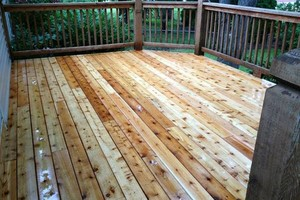 Photo #4: Deck building, staining, and reconditioning