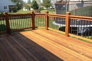Photo #2: Deck building, staining, and reconditioning