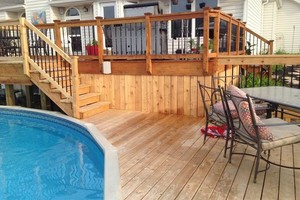 Photo #1: Deck building, staining, and reconditioning
