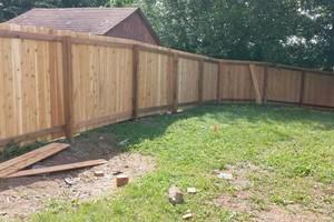 Photo #6: Abbey Fence - Wood Fence Installation