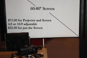 Photo #16: Rent a Video Projector & Screen $75.00 for Movie Night and Slide show