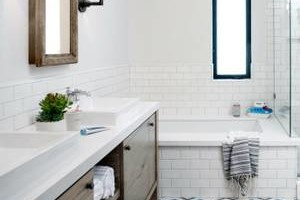 Photo #4: Tile flooring, showers, and backsplashes