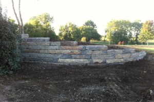 Photo #12: Big Stone Retaining Walls, Ponds and water features