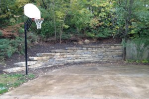 Photo #4: Big Stone Retaining Walls, Ponds and water features