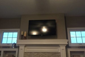 Photo #2: Security camera installation + tv wall mount installs, cable outlets, phone outlet
