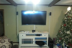 Photo #3: Security camera installation + tv wall mount installs, cable outlets, phone outlet