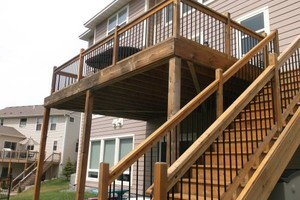 Photo #2: Deck staining/cleaning/repairs