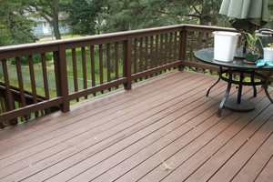 Photo #1: Deck staining/cleaning/repairs