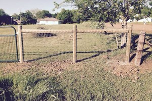 Photo #1: Horse fence installation
