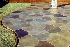 Photo #1: WE PUT WOW INTO CONCRETE, ART STAINED, OVERLAYS,RESEAL, POOL DECK S