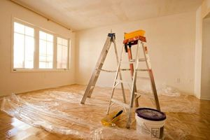 Photo #1: PAINTERS - walls, floors, doors, molding and cabinets