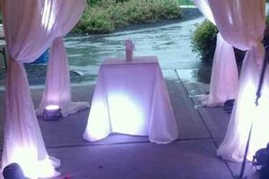 Photo #1: Draped Ceremony Decor with Lighting and Chandelier $399