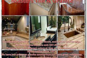 Photo #1: Granite countertops 30 colors same price free demolition