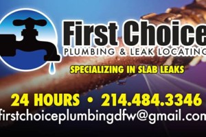 Photo #1: FIRST CHOICE PLUMBING AND LEAK LOCATING