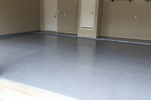 Photo #1: Moving into a new home? Perfect time to get garage floor epoxy coating