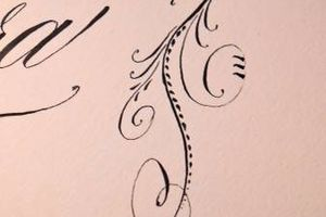 Photo #1: Wedding Calligraphy