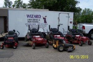 Photo #2: Wizard Lawn Service and Snow Plowing. Lawn Care /  Mowing / Maintenance