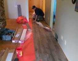 Photo #13: Vinyl, Hardwood & Laminate Flooring Installer!