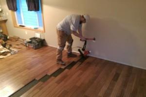 Photo #3: Vinyl, Hardwood & Laminate Flooring Installer!