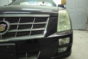 Photo #1: Headlight Foggy? Hard to see at night? Don't buy new headlight lenses